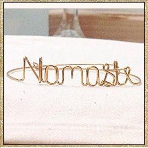 "Handmade Custom Wire ""Namaste"" Bracelet"